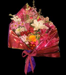 cod 210 - Ramo abierto multicolor con liliums y flores varias