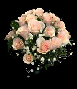 cod 428 - Ramo chico con mini rosas rosadas